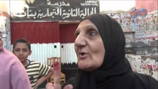 سيدات مسنات بعد الادلاء باصواتهن .. خلى حزب الكنبة قاعد مكانه