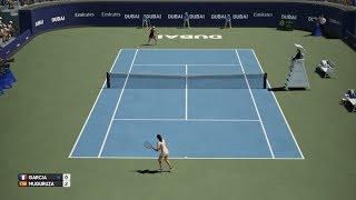 Caroline Garcia vs Garbine Muguruza - Dubai - AO Tennis PS4 Gameplay