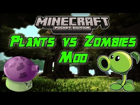 Plants vs Zombies Warfare Mod! Minecraft PE: Mod Showcase