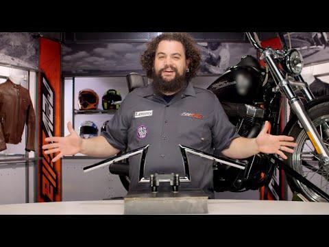 """Manillar Para Harley-Davidson Biltwell Keystone Xl 1/"""" Handlebar Chrome Dimpled"""