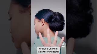 easy bun hairstyles! type 4 natural hair #shorts #naturalhair #hairstyles
