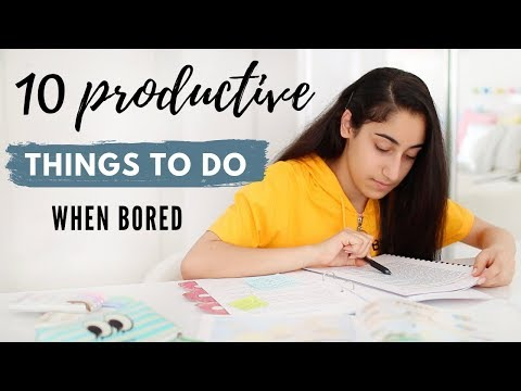 10 Productive Things To Do When Bored | How To Have A Productive Summer!