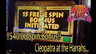 !!!HIGHLIMIT BONUS!!! $40 Cleopatra spins