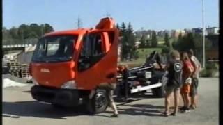 AVIA D120L nosič kontejnerů s hydraulickou rukou