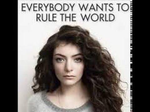 Everybody wants to rule the World-Lorde-Karaoke