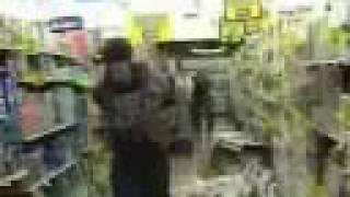 Trashing a grocery store isle