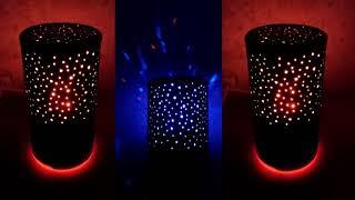 Jak łatwo zrobić piękną czarną lampkę nocną LED z plastikowego słoika na białko