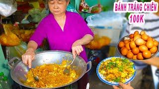 Dĩa Bánh Tráng Chiên Trứng 100k trên vỉa hè Sài Gòn ra sao?