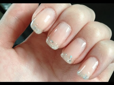 Glitter French Manicure Tutorial Youtube