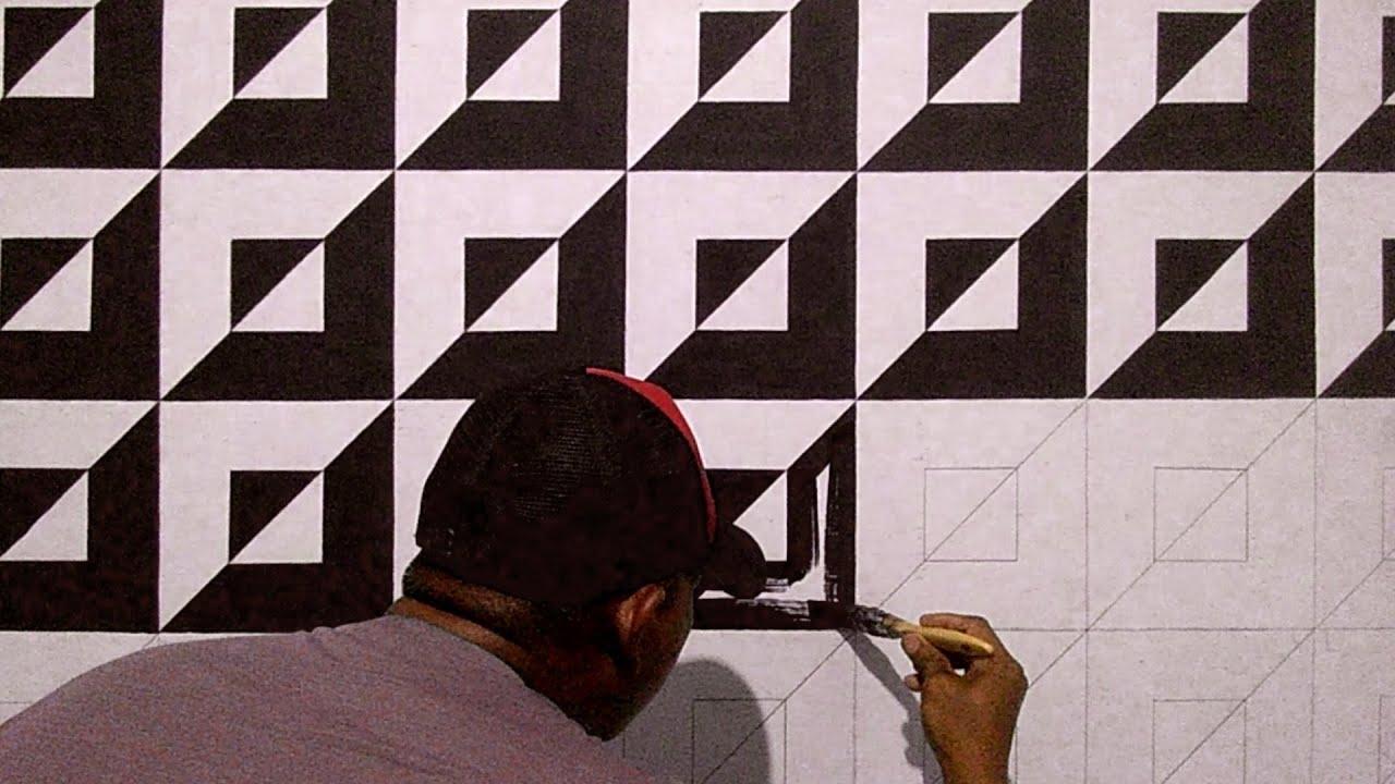 Wall Art Painting Cat Tembok Kreatif Hitam Putih Gambar Tembok Kamar Youtube