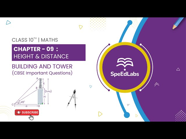 Class 10 Maths Chapter 09: Height & Distance | Building and Tower | CBSE Important Questions