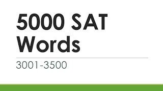 5000 SAT Words 3001-3500 | English Words With Meaning