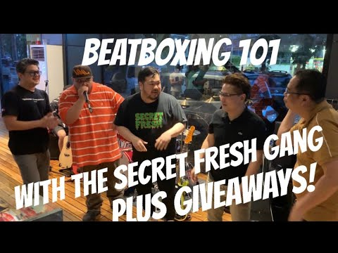 HOW TO BEATBOX WITH BIGG X AT SECRET FRESH PLUS GIVEAWAYS FOR LUCKY VIEWERS