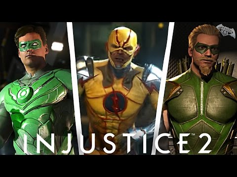 Injustice 2 - Reverse Flash, Green Arrow, Green Lantern REVEALED! Story Mode Trailer Part 2