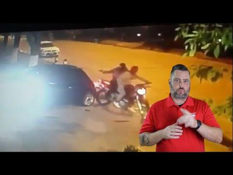 Argentinian Driver Uses Car To Escape Ambush