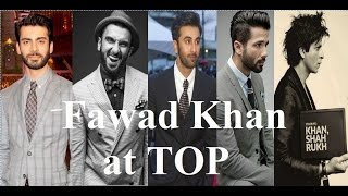 Top 10 Most Handsome Actors of Bollywood 2016   Fawad khan   Shahrukh khan