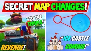 "*NEW* FORTNITE SECRET MAP CHANGES! ""ICEBERG CASTLE"" FOUND! - Season 7 ICE Castle + Durr Burger War!"