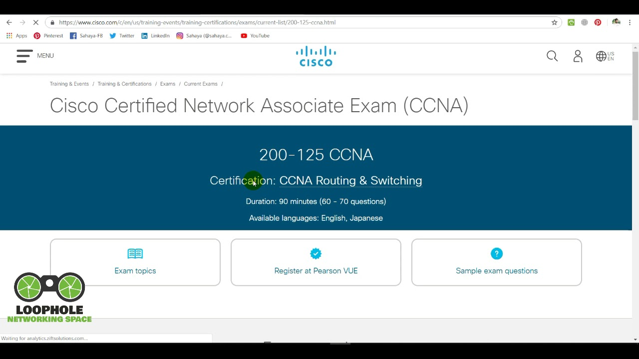 1.Introduction to CCNA R&S (200-125) | The LoopHole