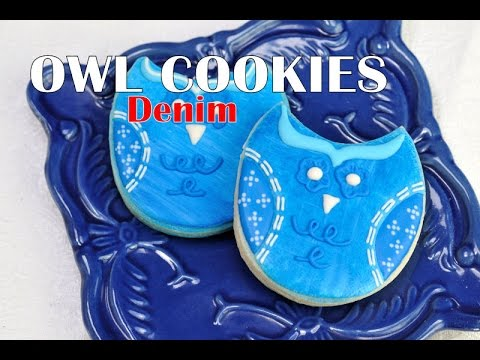 owl-cookies,-denim,-haniela's
