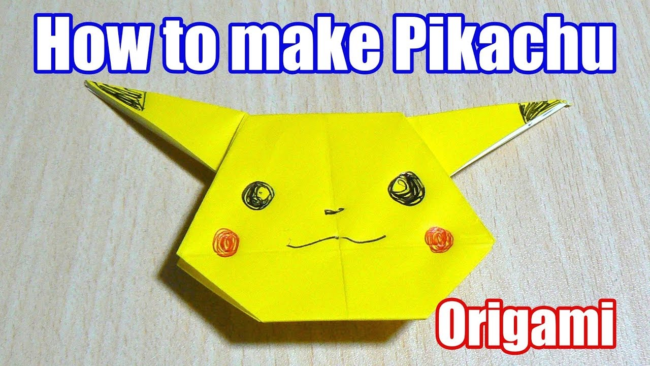 HOW TO MAKE AN ORIGAMI PIKACHU - YouTube | 720x1280