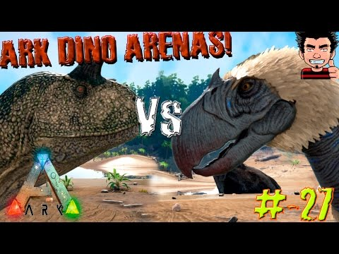 ARK Survival Evolved Carno VS Terror Bird batalla dinosaurios arena gameplay español
