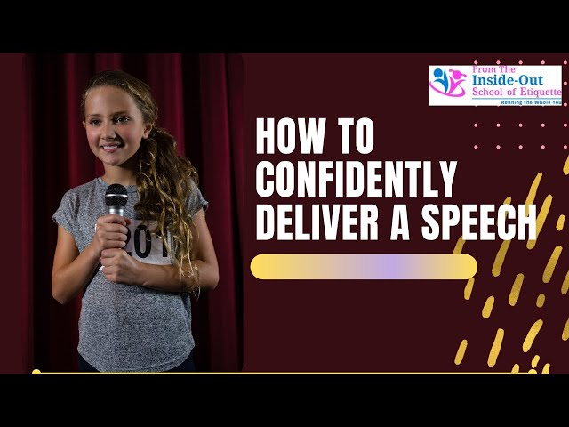 How to Confidently Deliver a Speech | Public Speaking Skills