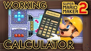 Super Mario Maker 2 - A Working Calculator Level (And It's Crazy)