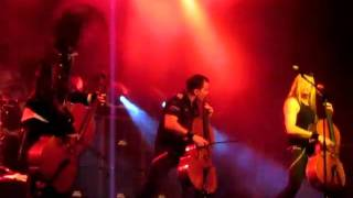 """Apocalyptica """"Master of Puppets"""" medley 3/5/11"""