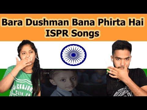 Indian Reaction On Bara Dushman Bana Phirta Hai | Azaan Ali | ISPR Songs | Swaggy D