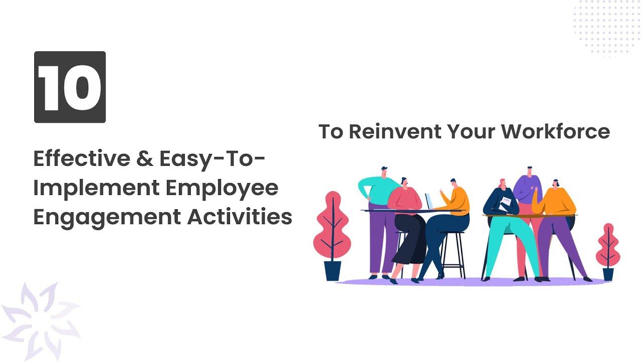 10 Employee Engagement Activities That Work Vantage Circle Youtube