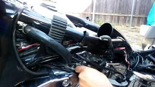 Honda Shadow 1100 carburetor removal
