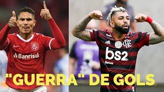 Gabigol já tem mais gols do que Guerrero pelo Flamengo com quase metade dos jogos. Veja comparativo