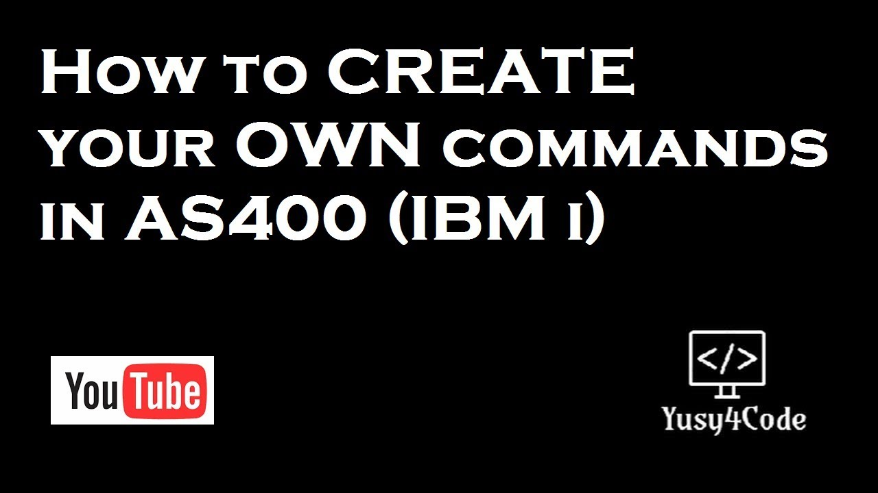 Create your own command in AS400