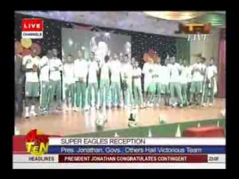 Jonathan fetes victorious Super Eagles