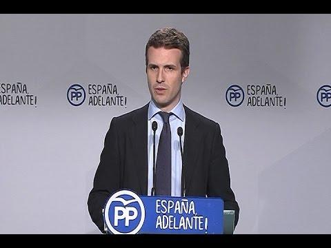"""PP: """"Sánchez no tiene ningún principio político"""""""