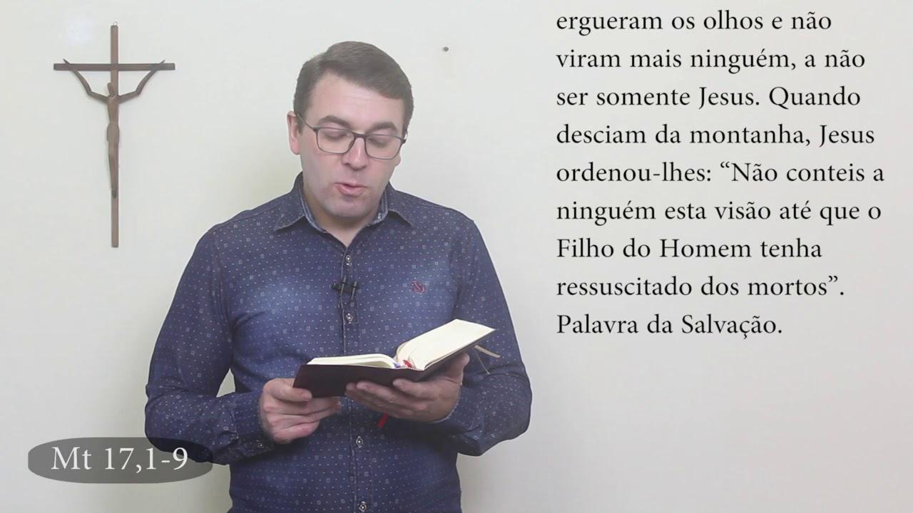 06/08/2020   A Transfiguração do Senhor