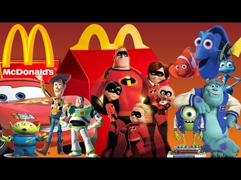 BEST OF DISNEY PIXAR MOVIE HAPPY MEAL COMMERCIAL🍟INCREDIBLES 2 MCDONALDS HAPPY MEAL ON JUNE 2018