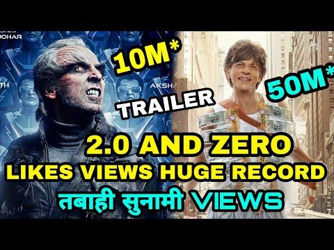 Robot 2.0 Trailer & Zero Trailer Makes huge Records Akshay kumar, Shahrukh Khan Create History