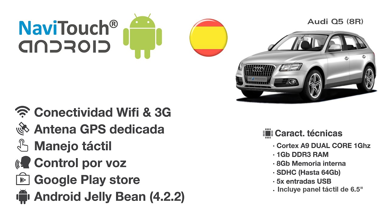 NaviTouch® Android - Audi A4, A5, Q5 Concert/Simphony 6,5