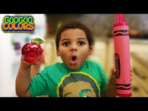 TALKING APPLE TEACH HOW TO SPELL RED! Learn with Goo Goo Gaga