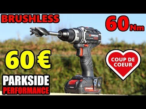 PARKSIDE PERFORMANCE Perceuse visseuse BRUSHLESS 20 V Cordless Drill driver PABSP 20 Li A1
