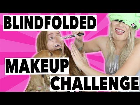 BLINDFOLDED MAKEUP CHALLENGE (W/ KATHLEENLIGHTS) thumbnail