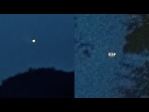 Large Glowing UFO with White Lights Captured by Family over Butterfield Lake in Redwood, New York
