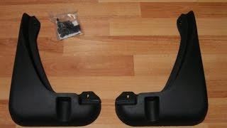 Обзор и установка задних брызговиков Audi A6C5
