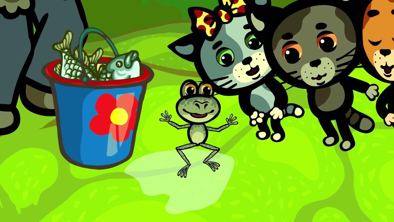 Детские песенки - Три котенка: Очень важен распорядок - теремок песенки для детей