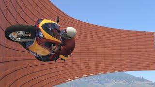 INCREDIBLE BIKE WALL-RIDE!? (GTA 5 Funny Moments)