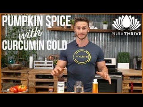 Fat-Blasting Pumpkin Spice Drink Recipe: Curcumin Gold   PuraTHRIVE - Thomas DeLauer