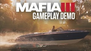 Mafia 3 Gameplay Demo(In this extended Mafia III gameplay demo from Gamescom and Tokyo Game Show, Lincoln Clay takes out one of Sal Marcano's underbosses, Tony Derazio., 2016-09-23T15:00:02.000Z)
