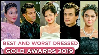 Best & Worst Dressed Of Television Celebrities At 12th Gold Awards 2019 RED Carpet