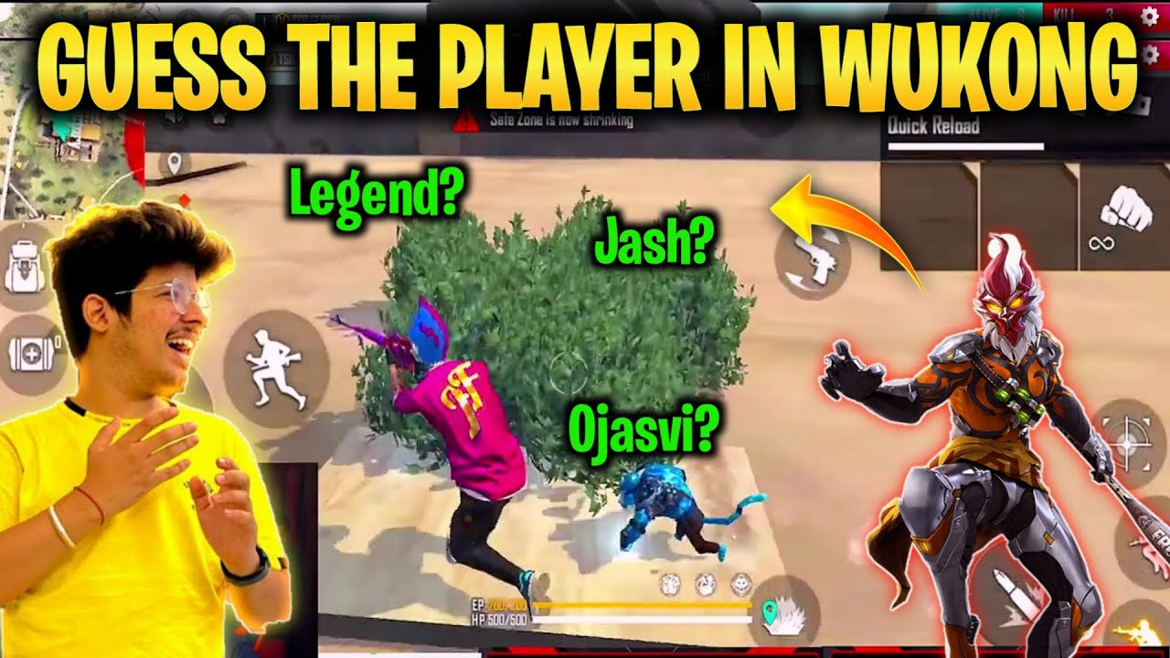 Guess Player In Wukong Challenge    Fun Game On Factory Roof -Garena Freefire